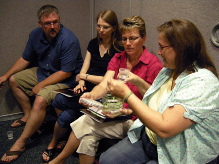 School teachers learn about how to use duckweed in the classroom
