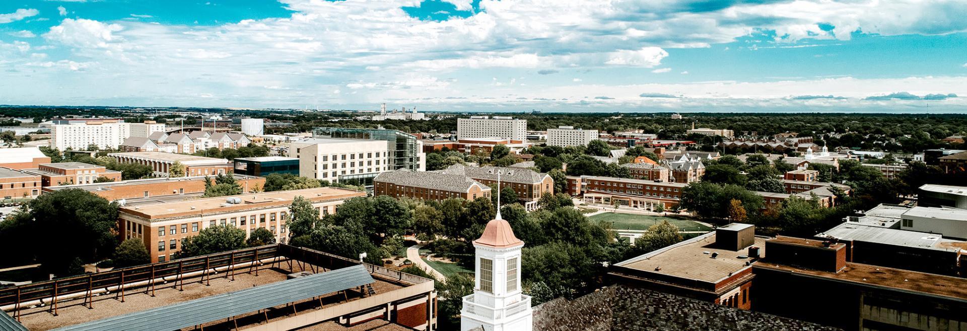 Aerial image of campus