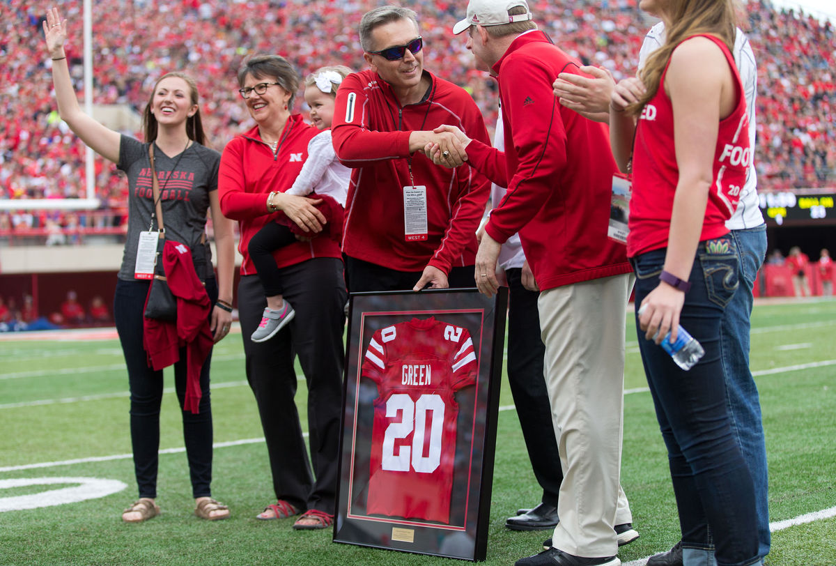 Photo of Ronnie Green on the field at Memorial Stadium.