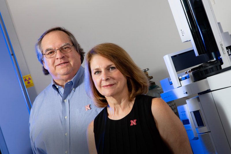 James Takacs (left) and Concetta DiRusso will lead the university's Center for Integrated Biomolecular Communication.