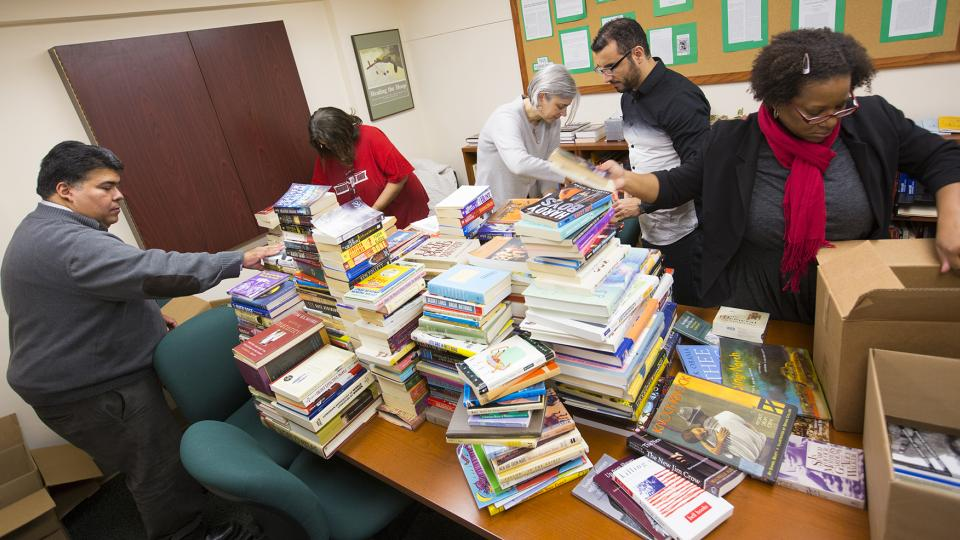 ; links to news story Ethnic studies donates books to Ferguson library