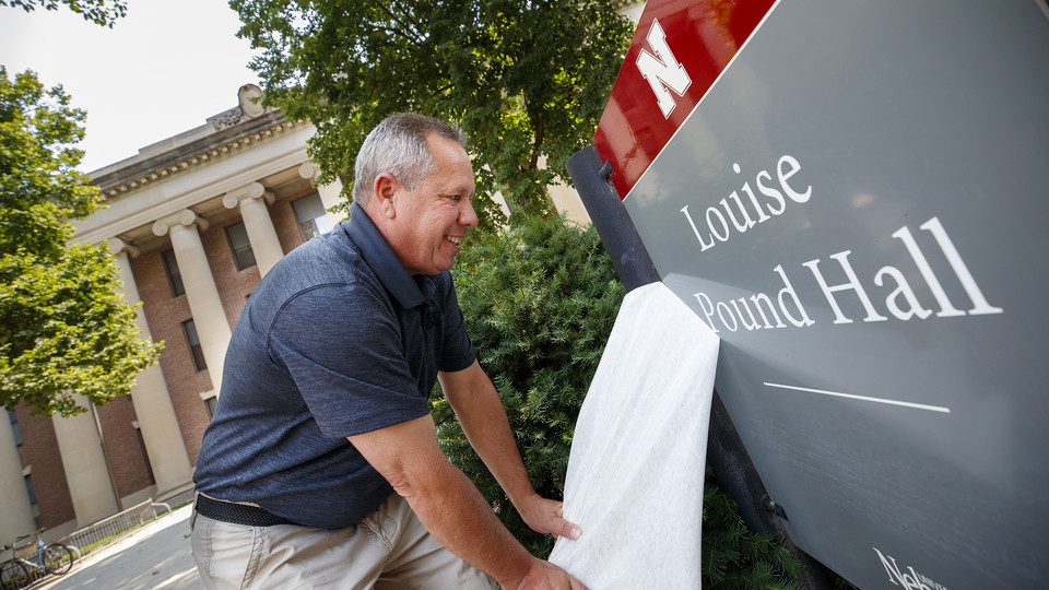 ; links to news story Pound Hall returns to campus