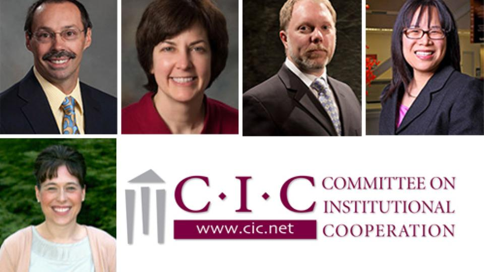 Steve Goddard, Tiffany Heng-Moss, Debbie Minter, Mark Riley and Lily Wang; links to news story Five faculty participate in CIC Leadership Program