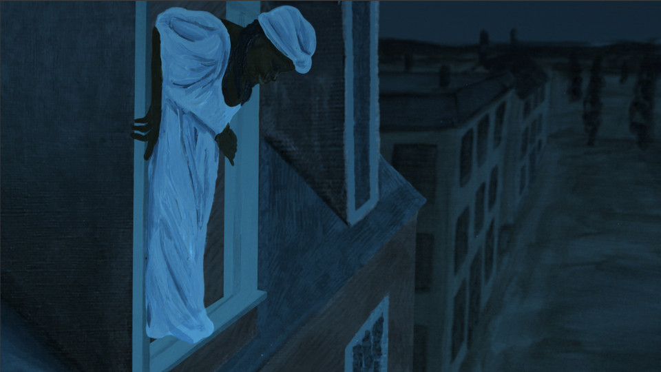Still from the film ANNA; links to news story Nebraska-produced 'Anna' collects top animation prize at festival