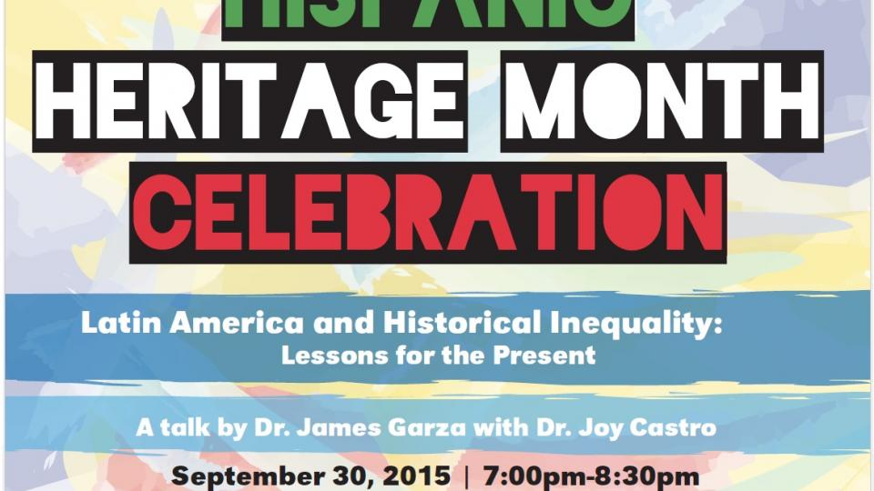 Hispanic Heritage Month poster; links to news story OASIS hosts Hispanic Heritage Month Celebration talk Sept. 30