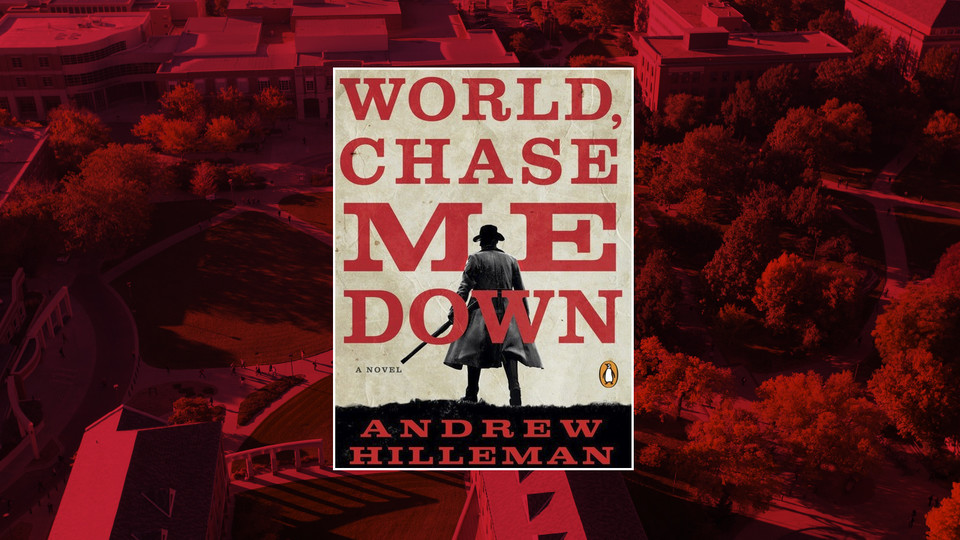 Cover of WORLD, CHASE ME DOWN by Andrew Hilleman; links to news story 'World, Chase Me Down' author to discuss historical fiction, crime writing