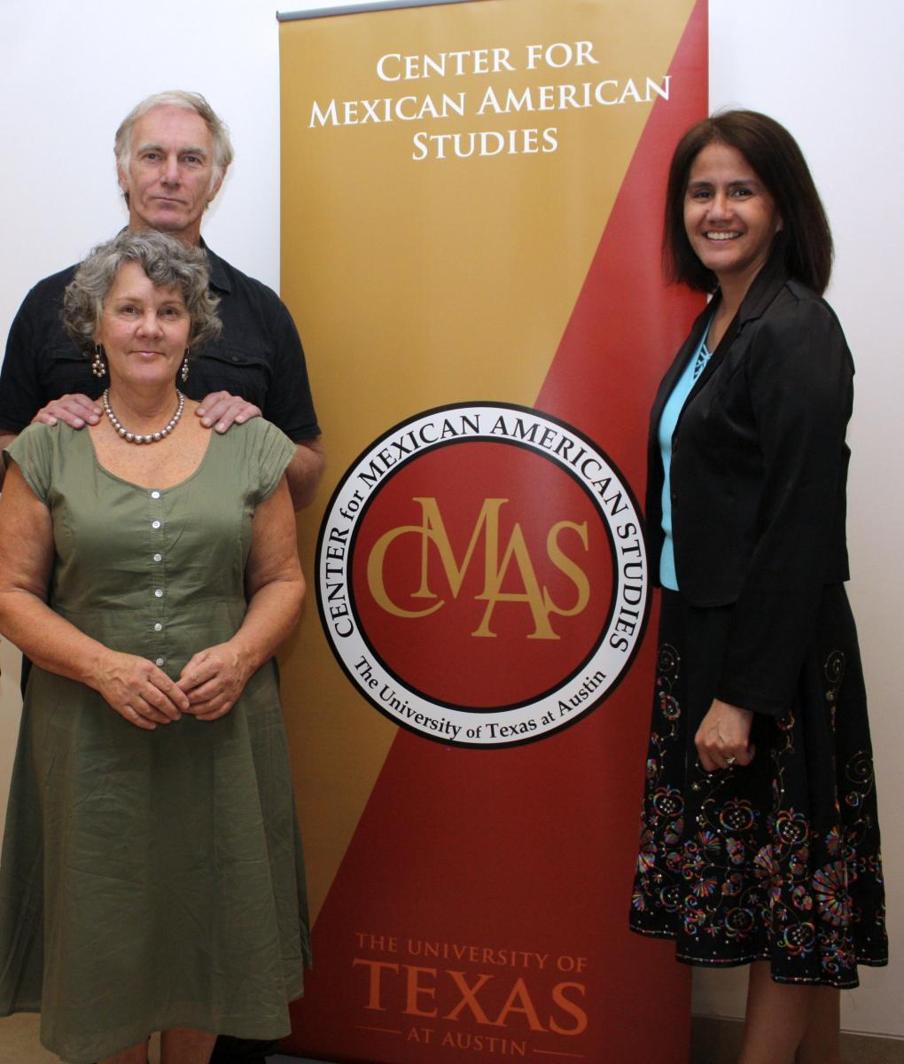 Domino Perez with John Sayles and Maggie Renzi at the Center for Mexican American Studies
