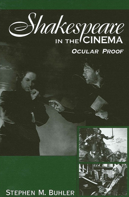 Cover image for Shakespeare in the Cinema: Ocular Proof