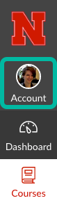 Location of Account in sidebar