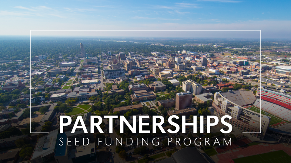 Partnerships seed funding program image with aerial view of Lincoln