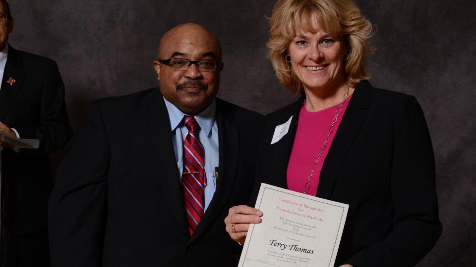 Faculty, staff honored for contributions to students