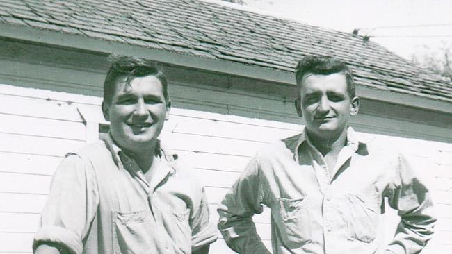 Ervin Krause, left, and his brother, Gerald.