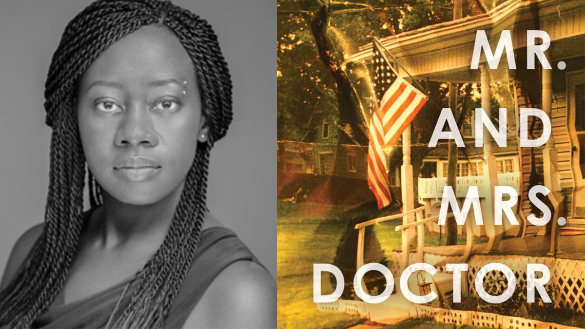 Julie Iromuanya and the cover of MR AND MRS DOCTOR