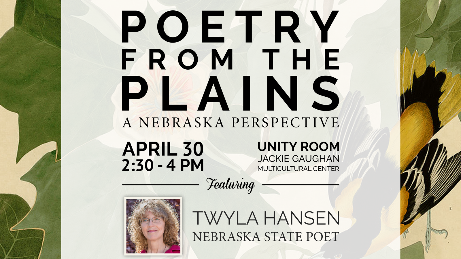 'Poetry from the Plains' Website Launches with April 30 Reading
