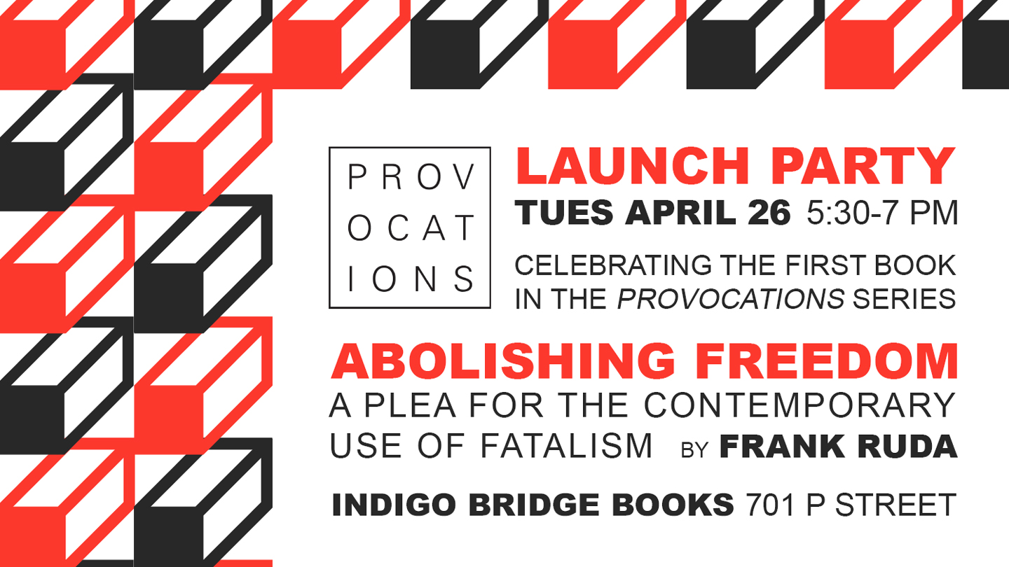 Provocations celebrates first book with Apr 26 launch party