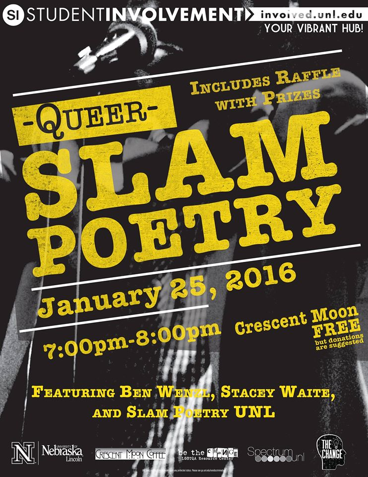 Poster for SPECTRUM Queer Slam Poetry