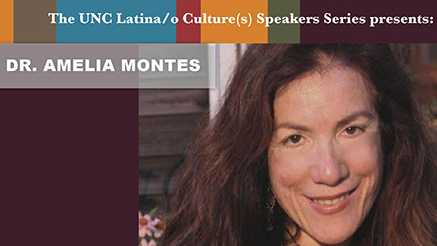 Flyer for Dr. Amelia M.L. Montes' guest lecture at NCU