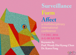 Poster for Surveillance, Form, Affect