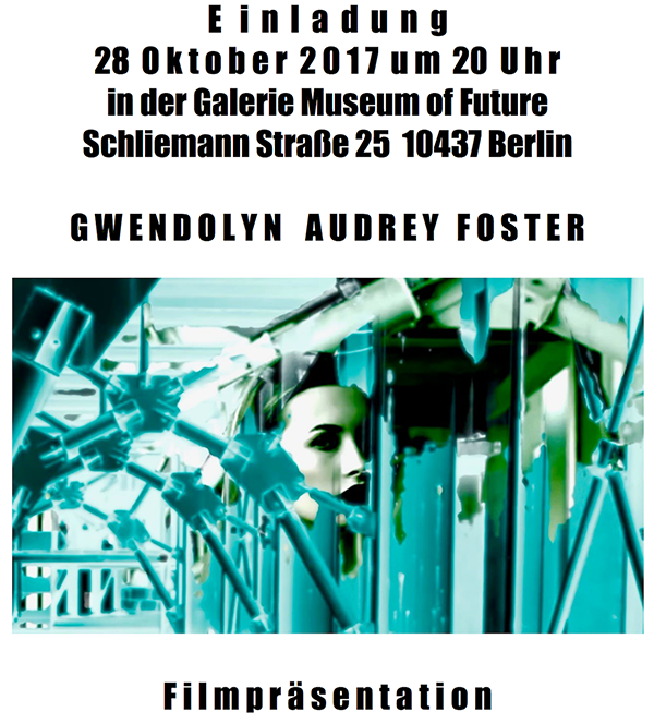 Poster for Gwendolyn Audrey Foster's showing in Berlin