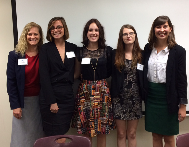 Dr. Beverley Rilett with students Bailea Kerr, Sara Duke, Rachel Gordon, and Rosamund Thalken