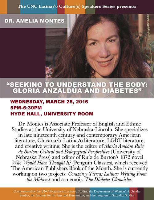 Flyer for Montes' talk at UNC