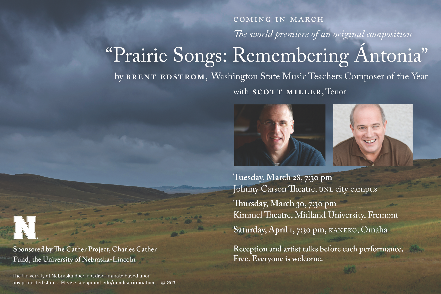 Poster for Prairie Songs concert