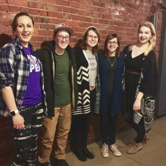 The second ever UNL Poetry Slam Team