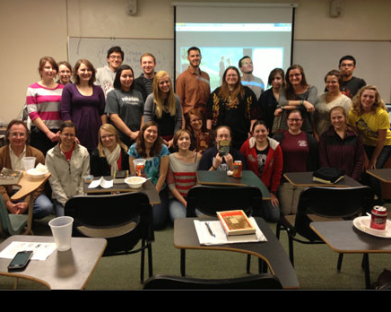The UNL English Club - then known as Literary League - ca 2013