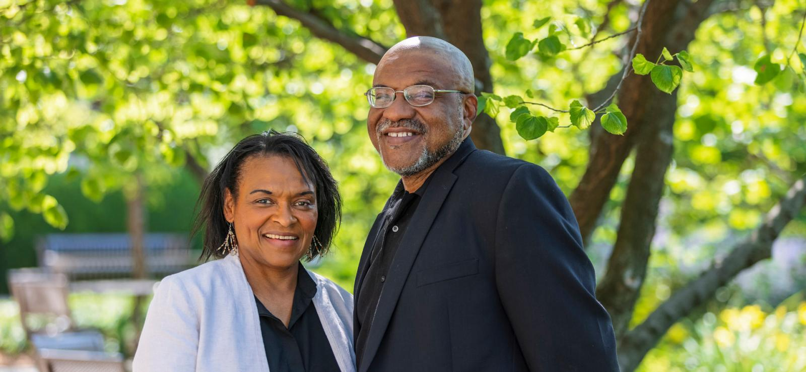 Kwame and Lorna Dawes, co-directors of the African Poetry Digital Portal