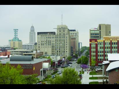Downtown Lincoln skyline