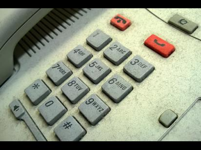 number pad on a telephone