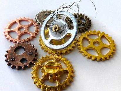 Gears and a Coil
