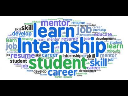 internship word cloud
