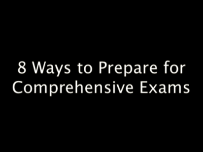 Eight Ways to Prepare for Comps
