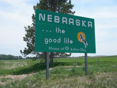 Welcome to Nebraska sign