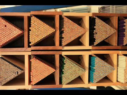 stacked pencils