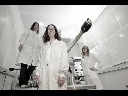 women in lab coats