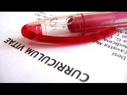 close-up photo of a CV title