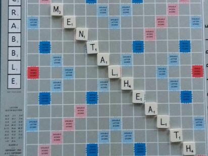 Mental Health written on Scrabble Board
