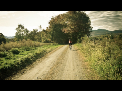 summer bike ride on a country road