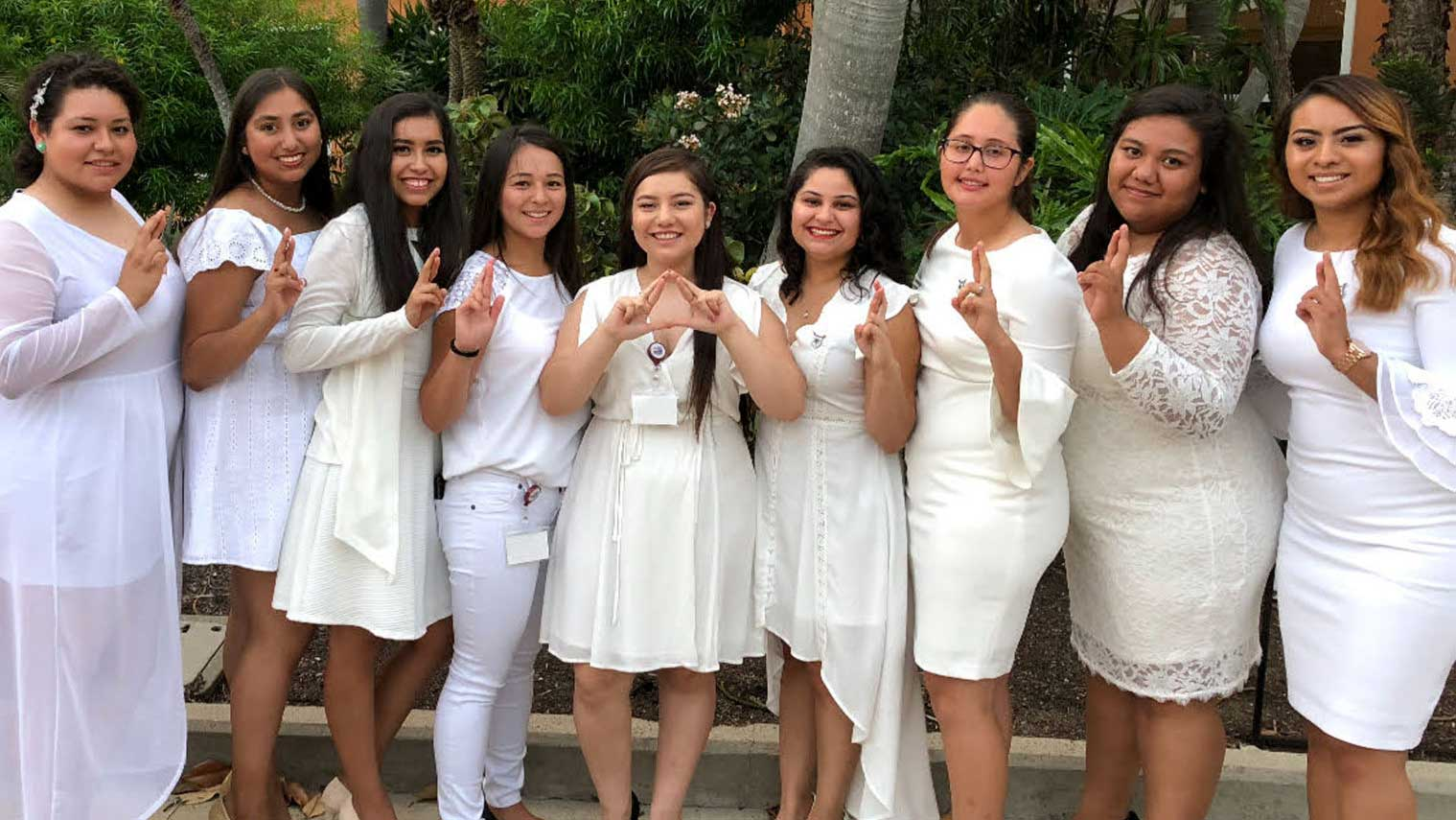 Members of Delta Xi Nu at the University of Nebraska-Lincoln