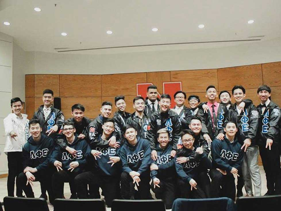 Members of Lambda Phi Epsilon, and Asian-interest fraternity, pose for a group photo. | Daily Nebraskan