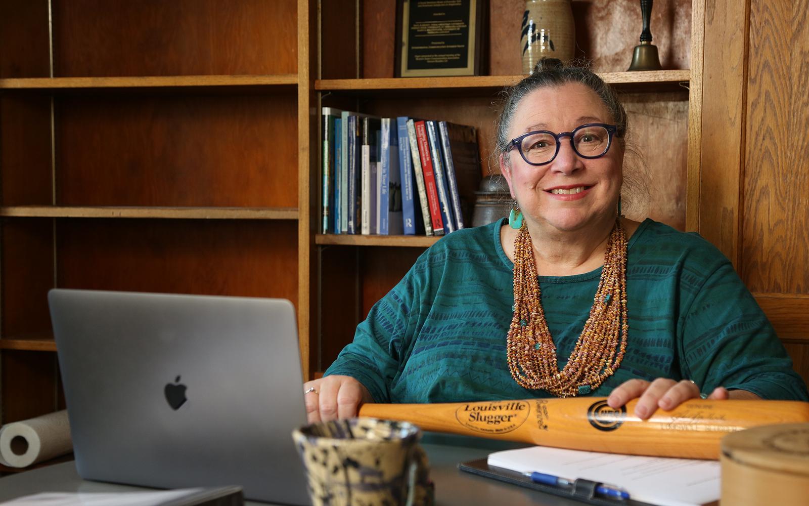 Dawn Braithwaite in her office