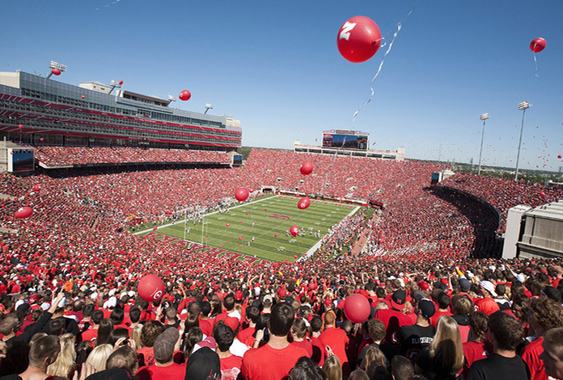 Memorial Stadium balloon release