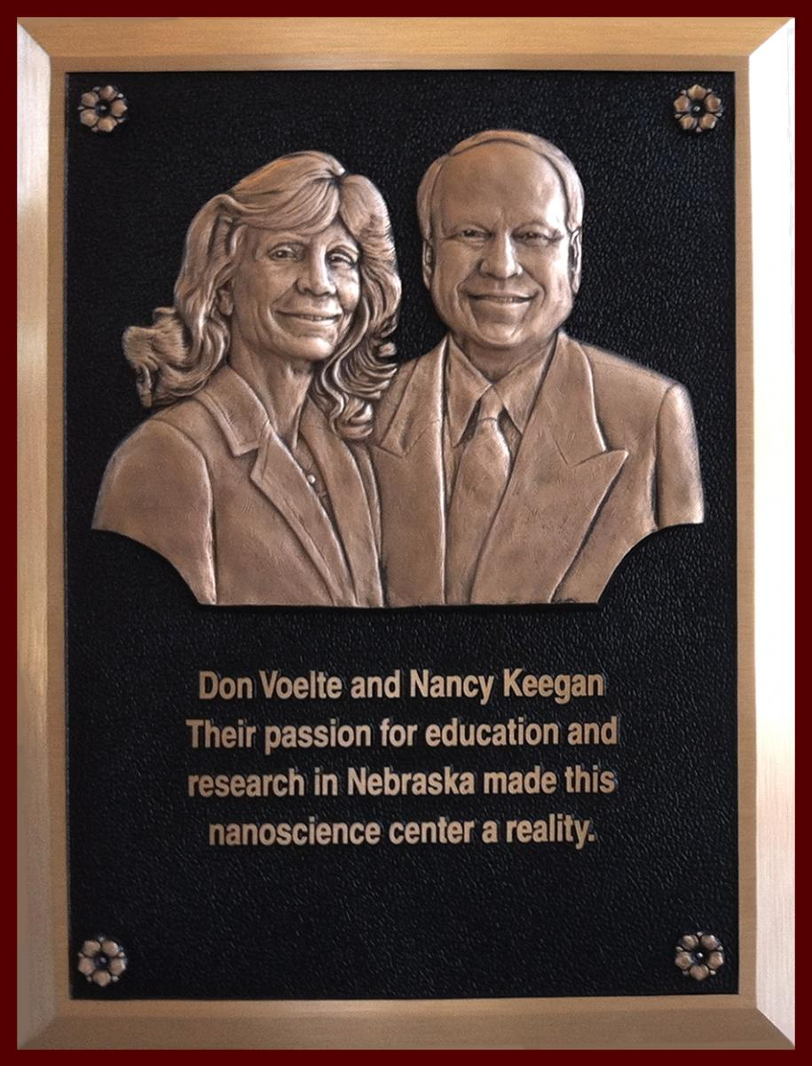 Voelte-Keegan Plaque in Nanoscience Research Center