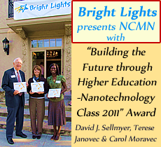 Bright Lights Presents NCMN with Award