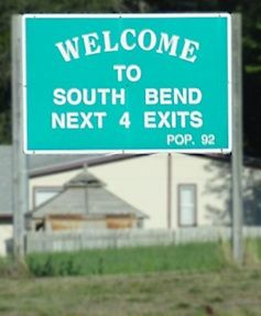 Welcom to South Bend Sign