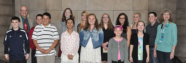 2014 Student Poets at the NE state Capitol