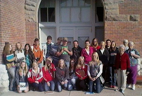 Valentine High schoo  students at Centennial Hall