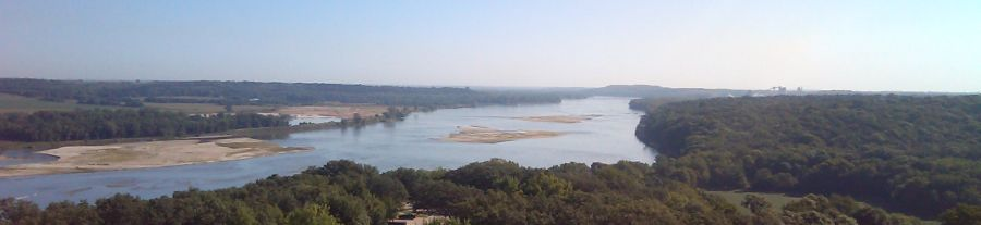 Aerial view of Platte River